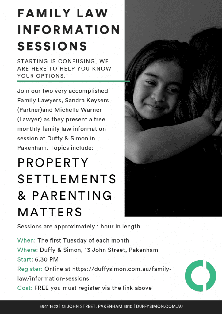free family law information sessions pakenham