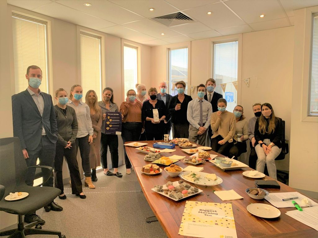Duffy and Simon Lawyers enjoying the Biggest Morning Tea to help raise funds for the Cancer Council
